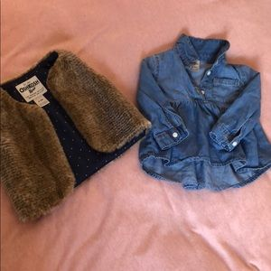 Osh Kosh Vest and Denim Shirt